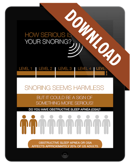 Preview of our free sleep apnea infographic with a download banner on it